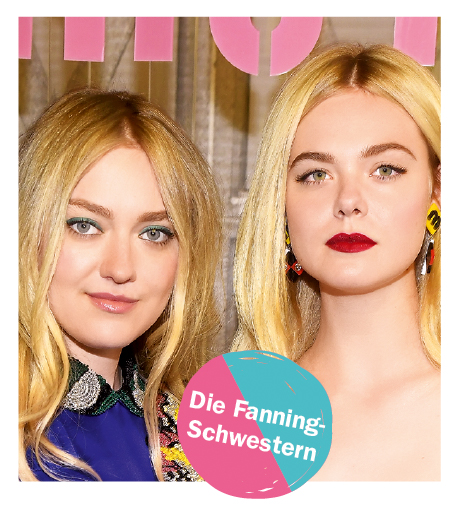 Make-up von Dakota und Elle Fanning