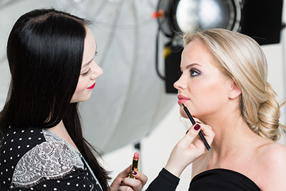 Doreen Stehfest bei DIOR Make-up Masters, Lippenmake-up