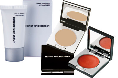 Make-Up Primer Silicone-Free, Perfecting Eye Base und Silky Cream Blusher Sunny Peach von Make-up-Artist Horst Kirchberger