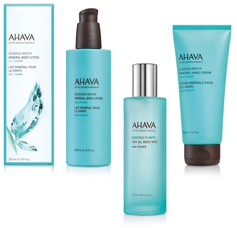 Sea Kissed Mineral Body Lotion, Dry Oil Body Mist und Hand Cream: Ahava
