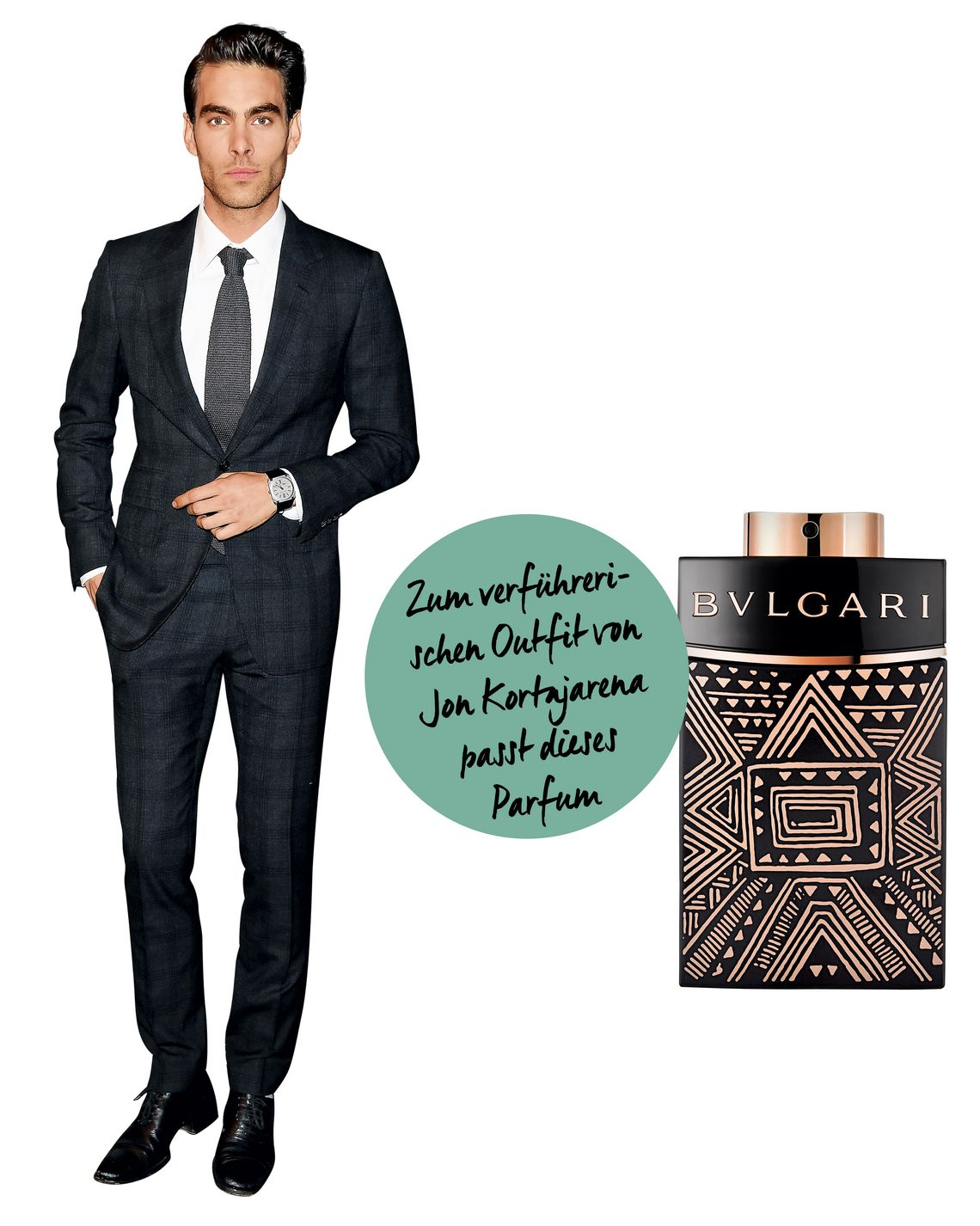"Model Jon Kortajarena; ""Man in Black Essence"" von Bvlgari"